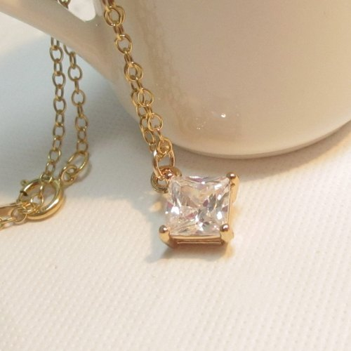 【14K Gold Special Series】 Simple style Necklace - Like Diamond