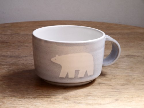 Pottery Polar Bear Mug (large)