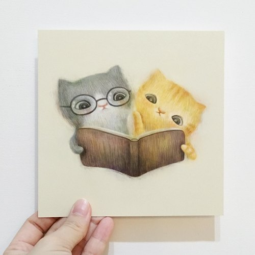 Cats postcard series [read good books good cat]