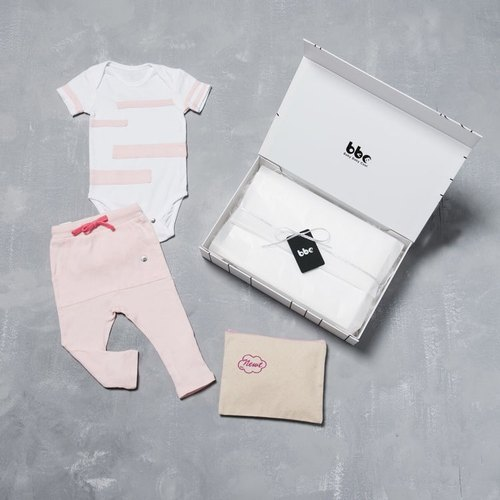 【Playground/Pink】baby baby cool - Special kit-B / 100% Organic Cotton