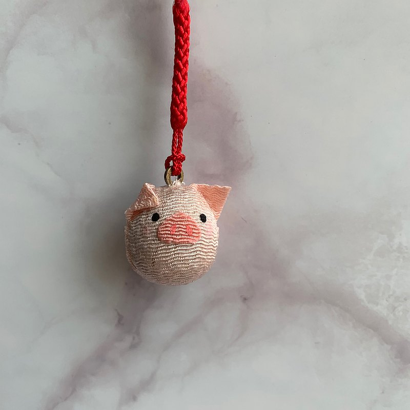 Animal water piano bell-piggy-pendant
