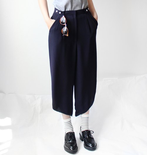 4.5studio- [R;] Restyle-A- bevel blue pants feet