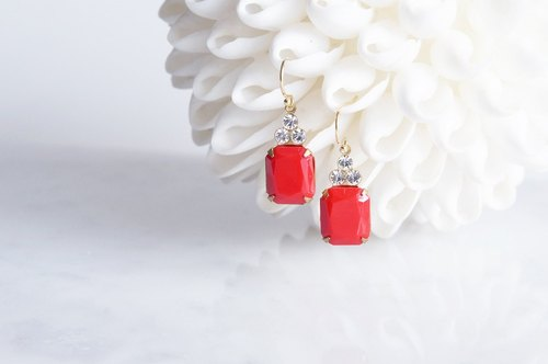 【14KGF】 Rock Candy/Red&Crystal