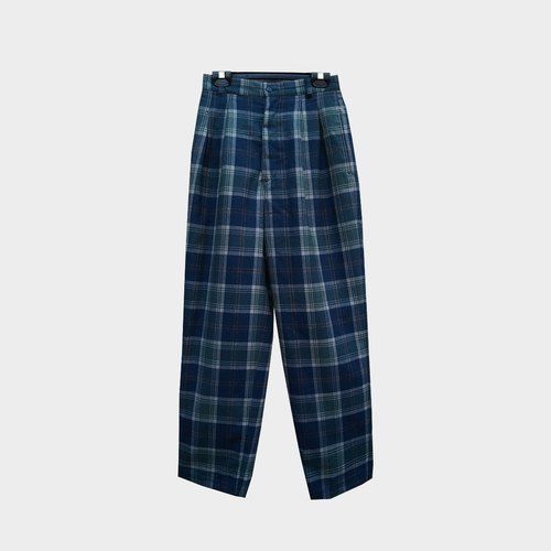 Vintage wool plaid pants B11
