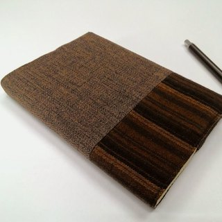 Exquisite A6 cloth book clothing ~ brown (single product) B04-038