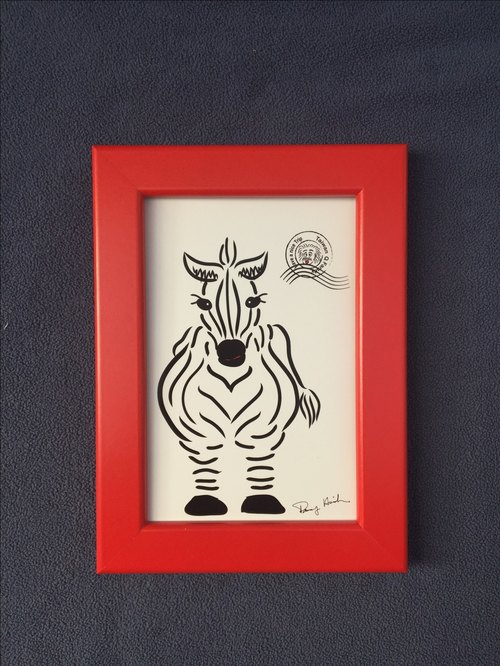 Q Family Wildlife Frame + Zebra