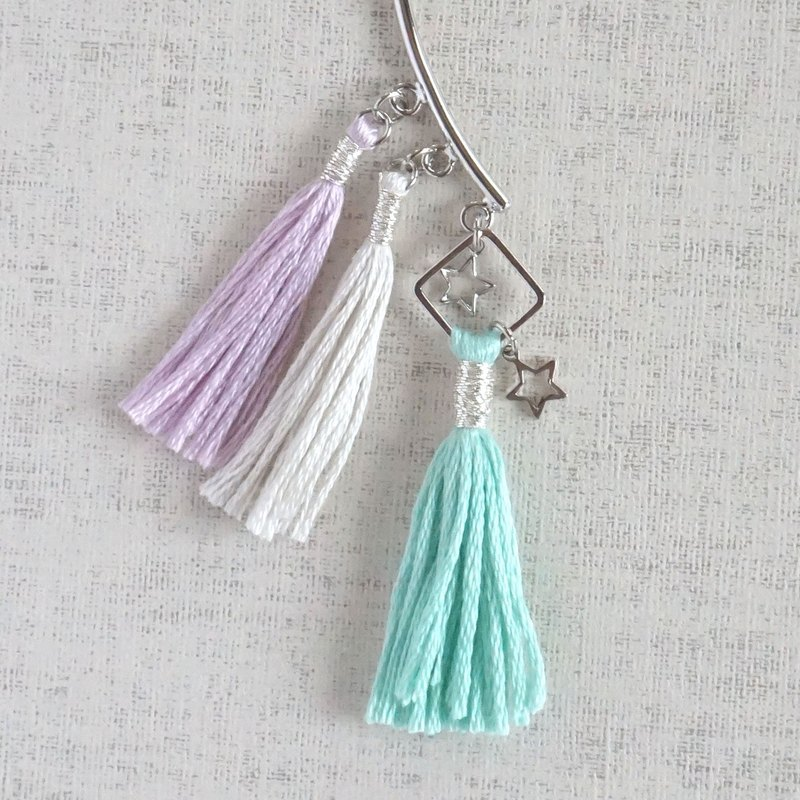 "original tassel earhook ""pastel"""