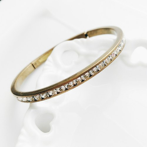 momolico candy arm bracelet brass zircon
