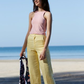 EMILY LINEN PANTS / Lemon