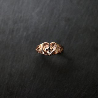"Love & Peace Ring of Love and Peace ""Rose Gold Plated"""
