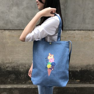 Ice Season - Three-colored shoulder bag