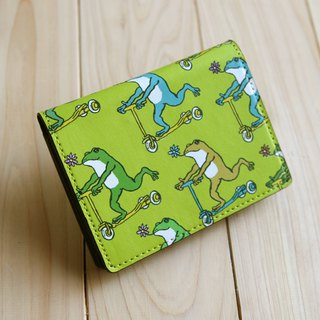 Business Cards · Card Case Frogs Kurin Green