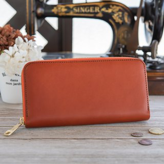 Japan Manufactured cowhide packs Tochigi leather making vermillion made in JAPAN handmade leather wallet