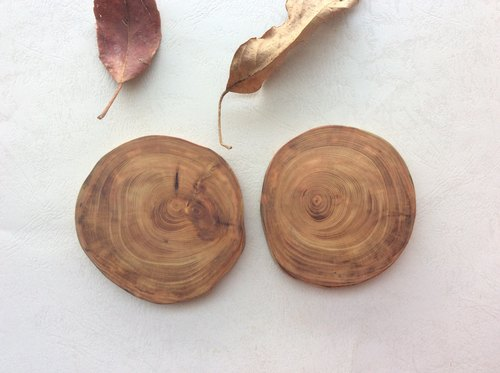 Hand-made wooden s - orange blossom lemon cypress wood coaster kit smells / gift / Department of Forestry / phytoncid