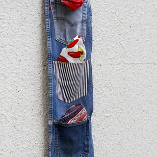 Denim remade wall hang