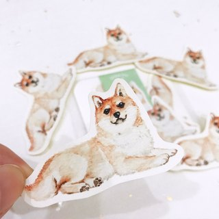 Puppy Series Sticker-Stickers,Watercolor,illustrations,Sticker,shiba inu Sticker,cute Stickers,Handmade Sticker,Laptop Sticker