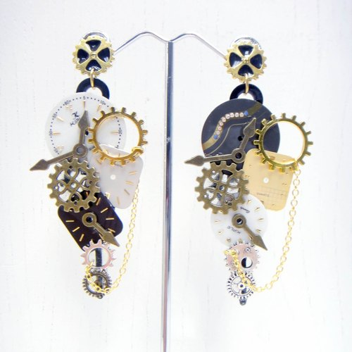 TIMBEE LO hours of needle surface antique earrings retro STEAMPUNK steam era nostalgia alone want a repeat Offer no need to buy two