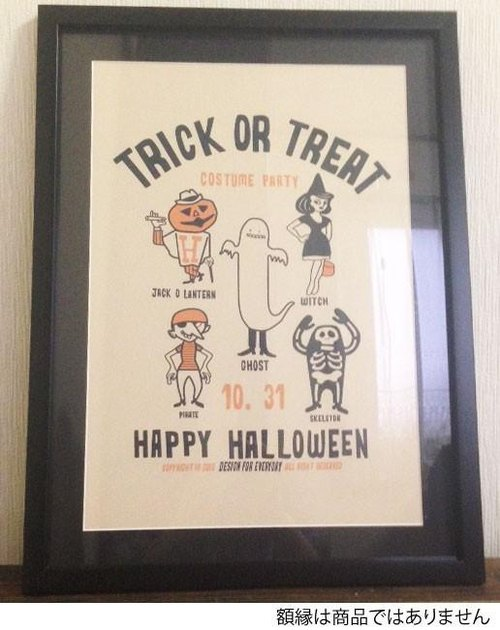TRICK OR TREAT Poster / print A3 size