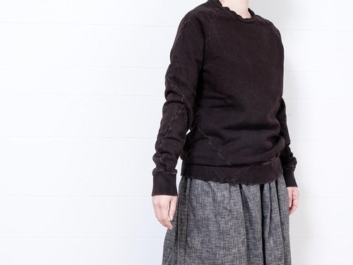 "16aw-T0002H1-K ""mud-dyed"" patchwork pullover (size1)"