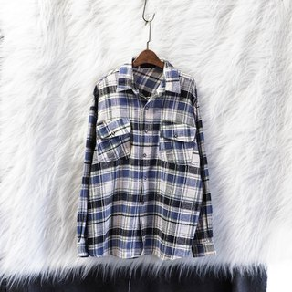 Akita hairy light gray off youth electric illusion story antique cotton shirt jacket coat vintage