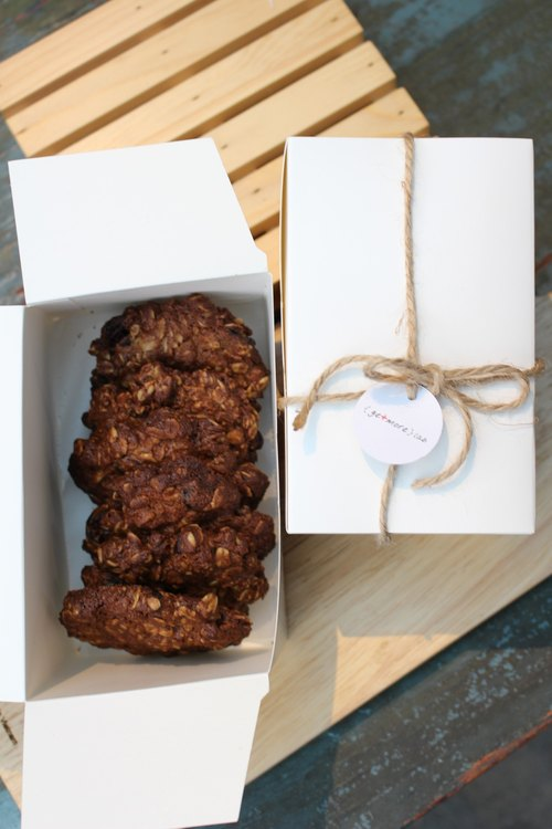 [Small boxes of fresh handmade cookies Cranberry oatmeal cookies 16] into