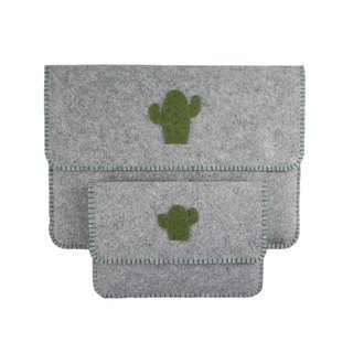 "Custom - Cactus Macbook Air | pro 11 \ 12 \ 13 \ 15 ""Felt Cloth Laptop Bag + Power Pack Set"