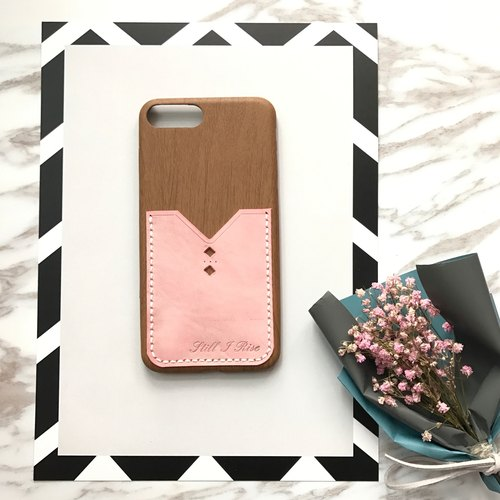 mum and I handmade |  Phone case with leather pocket