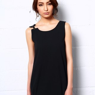 Desert Gems Slip Dress In Black