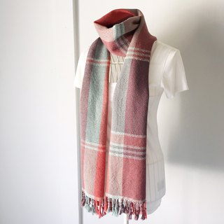 "Unisex hand-woven scarf ""Cherry color mix"""