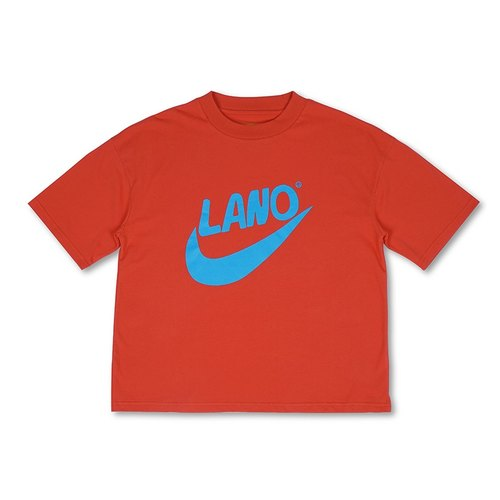 LLANO 2016 summer sports series retro orange cold humor Fun Logo loose cotton short-sleeved T-shirt