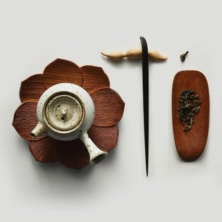 Mountain house senser 丨 lotus tea is the original handmade tea spoon wood products (rosewood)