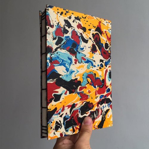 Marbled book (color)