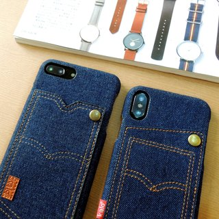 Kalo Creative iPhone X Personality Denim Pocket Case