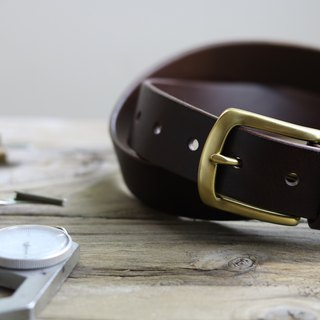 <CANCER流行實驗所> - Handmade belt / 35mm / suitable for men and women / coffee / brass