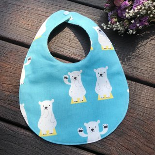 Polar Bear <Blue> Double Side Bib