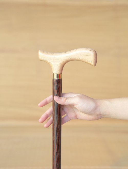 Wooden cane factory self-made direct sales * Maple + chicken wing wooden gentleman cane (for men and women)