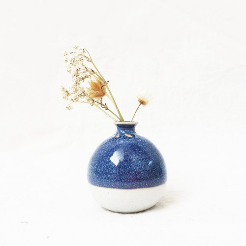 Handmade Ceramic Mini Vase - Lake Blue