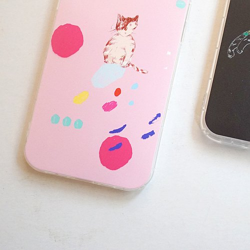 Street cat diary phone shell: biscuits tabby kitten - powder iphone full range & various models of custom