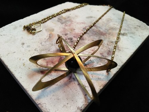 ▲ nucleus Atomic nucleus / brass necklace