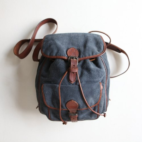 A ROOM MODEL - VINTAGE, BB-0683 after CERVO navy blue canvas satchel