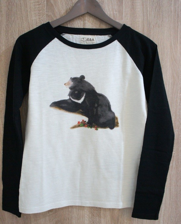 Taiwan Black Bear & Yushan Raffia Long Sleeve Tee (Girls)