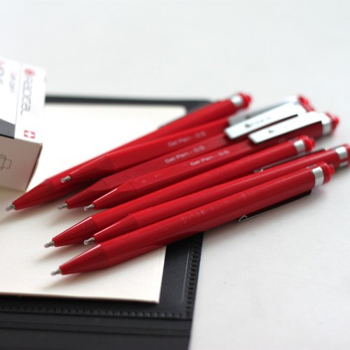 PREMEC Swiss brand RADICAL plastic pen 0.5mm texture metal pen holder red pen red single cartridge