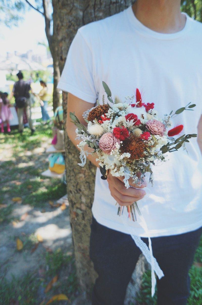 Silk Flower Amor Floral Vintage Casual Wind Dry Flower Bridal