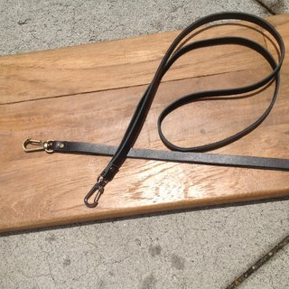 Leather lanyard, lanyard, hook section, leather rope, rope neck identification, can be hanged gogoro 【leather】 black