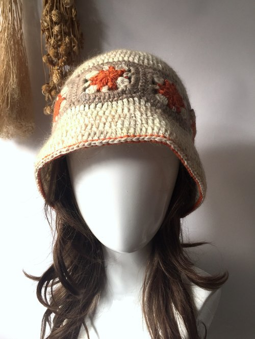 Happy stitching direction warm knit hat / wool hat / caps / handmade hat handmade〗 〖crazy hopscotch