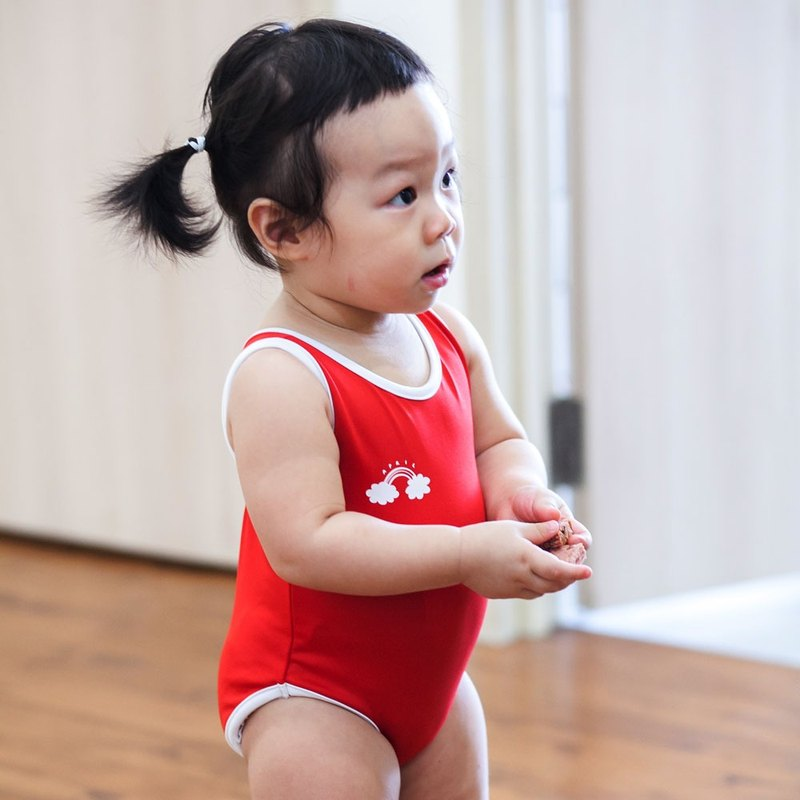 Aprilpoolday Swimwear / KID.VOLLEYBALL / Red / S