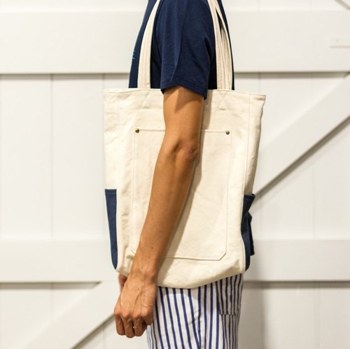 Mushroom Mogu / canvas bag / shoulder / Freedom (raw white)
