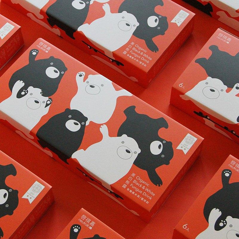 【母親節禮盒】啓祺嘉 綜合有機木耳露禮盒 每盒3黑3白 共3盒
