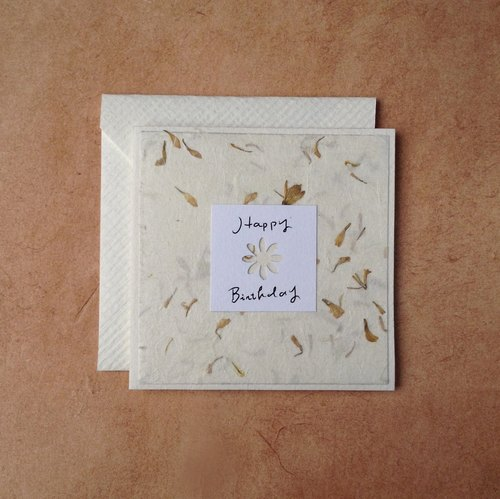 Birthday Card for Plant Lovers (Chrysanthemum for October)