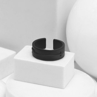 Recovery Arrow Ring (Fog Black)